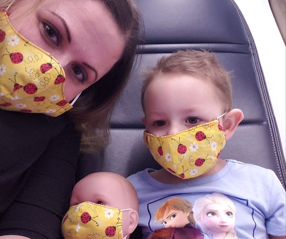 Chemo treatments, a sick wife, the birth of a baby: A snapshot of why people are flying during the coronavirus crisis