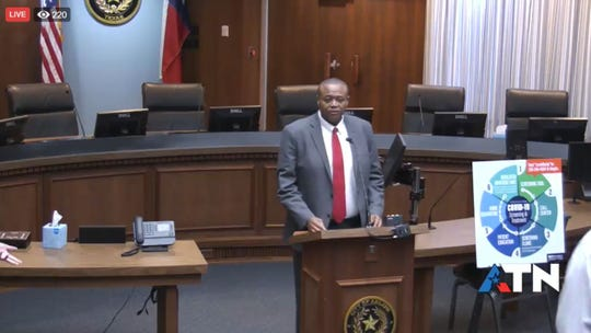 Abilene City Mayor Anthony Williams opens a news conference Wednesday April 8, 2020 to give a city update on response to COVID-19.