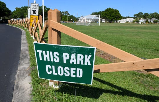 Jack Mahon Park on Spyglass Hill Road in  the Suntree/ Melbourne area is closed due to coronavirus precautions.