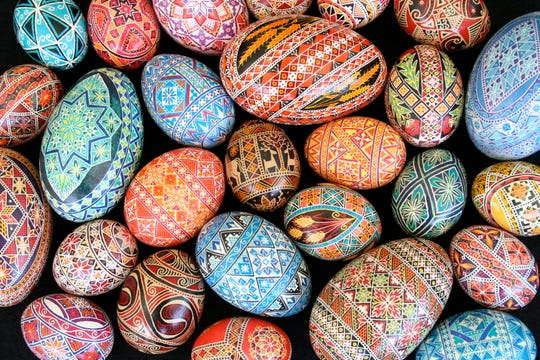 Legend says that pysanky, or Ukrainian Easter eggs, keep the world safe from the spread of evil.
