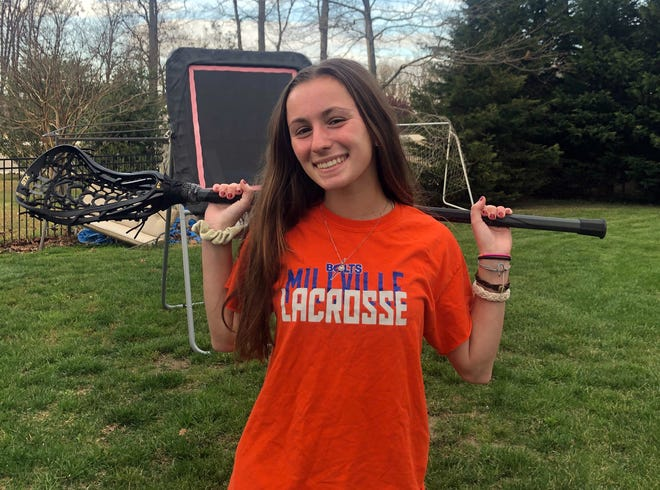 Millville's Kylie Giordano didn't pick up a lacrosse stick until she was in eighth grade. However, she quickly fell in love with the sport and had a huge impact on the Thunderbolt program.