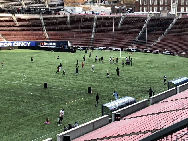 Allan Peck, a physician, said he's concerned when groups play contact sports or otherwise don't practice social distancing while exercising at UC's Nippert Stadium, which some have used as a makeshift gym during the COVID-19 crisis.