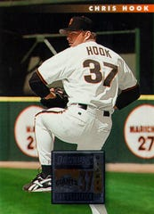 1996 baseball card of Chris Hook