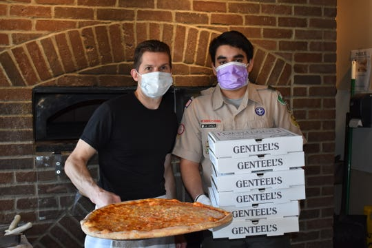 Montgomery residents Jai and MJ Narula partnered with James and Dawn Genteel of Genteel's Pizzaria in the Skillman section of Montgomeryto provide hot meals for Saint Peter's University Hospital in New Brunswick.