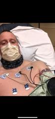 Matt McCauley while in the hospital with coronavirus.