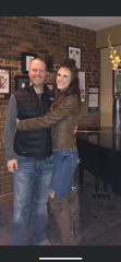 West Des Moines resident Matt McCauley with his wife Jessica.