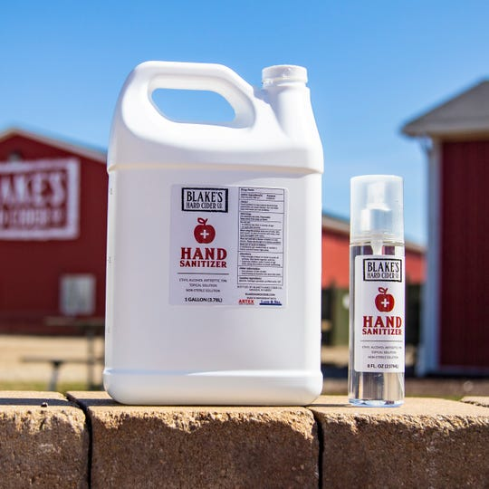 Blake's Hard Cider is producing hand sanitizer.