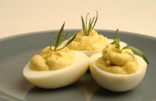 Tarragon Deviled Eggs.