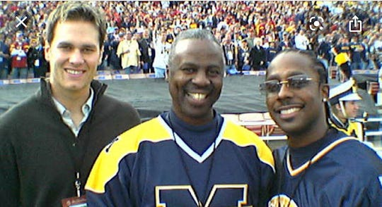 Greg Harden, with Tom Brady and Desmond Howard