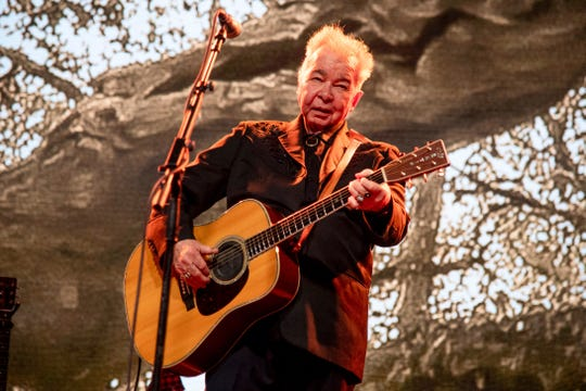 John Prine performing at the Bonnaroo Music and Arts Festival in Manchester, Tenn. on June 15, 2019.