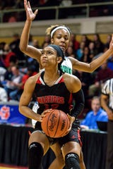 Southfield A&T's Cheyenne McEvans averaged 23 points, 10 rebounds, 3.7 assists, and 3.2 steals this season.