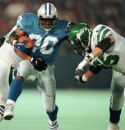 Lions running back Barry Sanders broke the single-season 2,000-yard mark in this game in 1997 against the New York Jets.