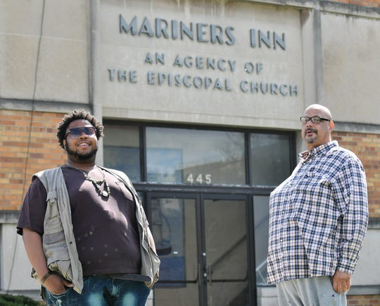 Norman Bolden III, 34, left, and Edward Norwood Jr., 54, have been staying at the Mariners Inn Campus since before the coronavirus pandemic began.