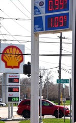 The Marathon and Shell stations at 10 Mile and Ryan in Warren were selling gas for 99 cents Wednesday.