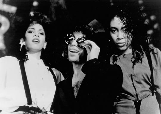 "Cat, Prince and Sheila E. in ""Sign O' the Times."""
