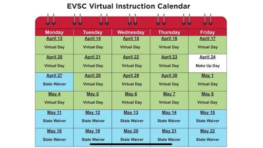 EVSC releases new academic calendar