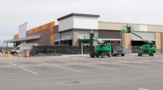 Construction crews were still at work on April 2 on the new Dave and Buster's at Bay Park Square Mall in Ashwaubenon.