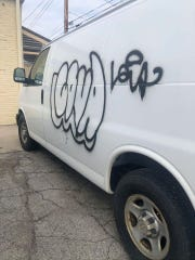 Racist graffiti was written on one of Main Oriental Market's food service trucks related to the spread of COVID-19.