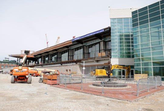 Construction continues on the Resch Expo Center in Ashwaubenon.