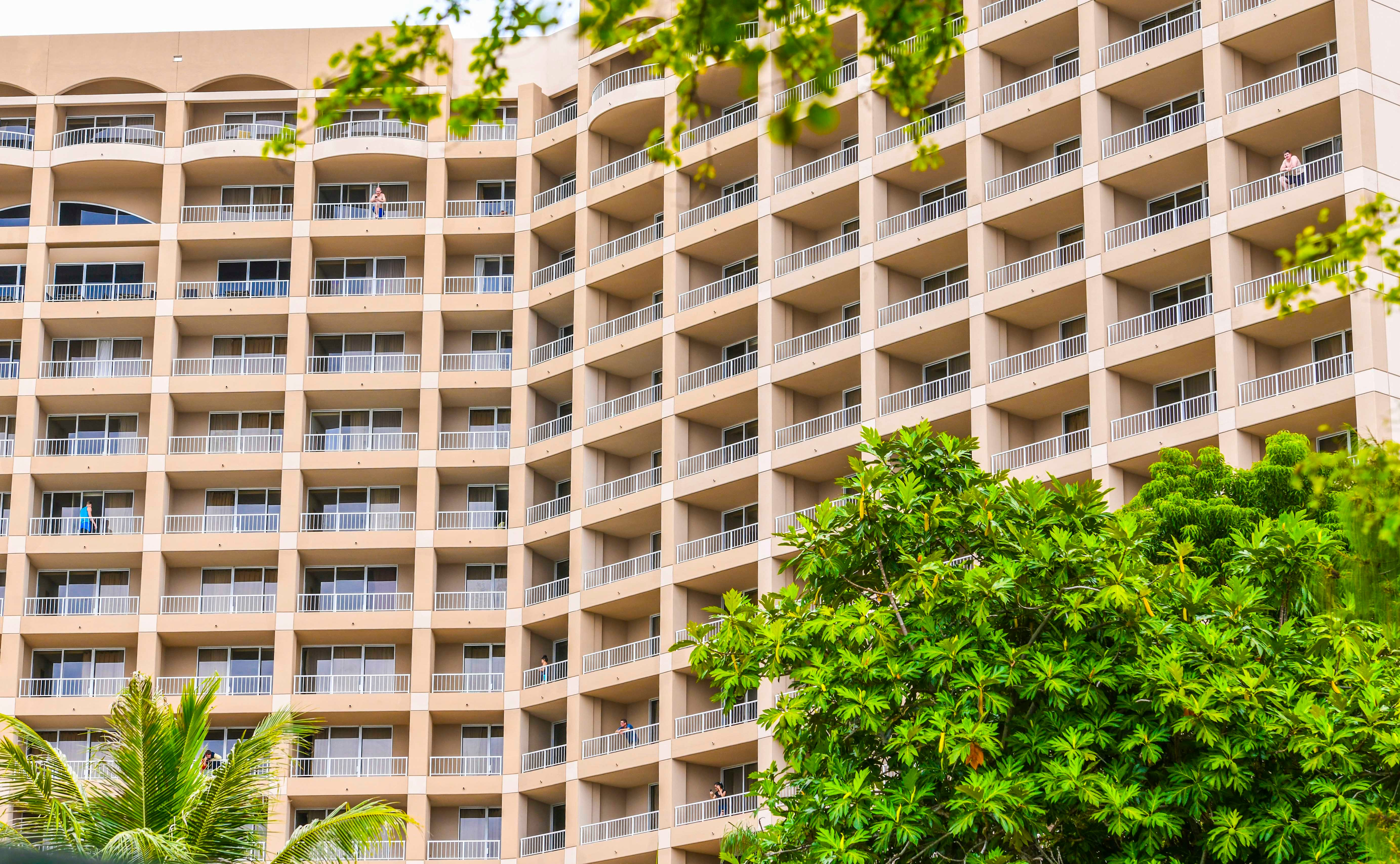 The Hyatt Regency Guam, as photographed April 8, 2020. A one-day COVID-19 vaccination clinic will be held at the hotel March 30, from 4 p.m. to 7 p.m.