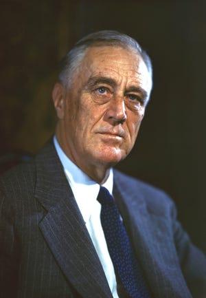 President Franklin D. Roosevelt's 1944 portrait.