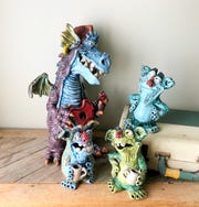Friendly creatures crafted by Sam Clark of Madison seem to have a way of making one smile.