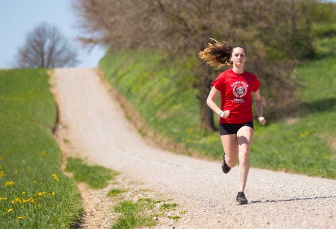 In the face of uncertainty, Fairfield Union junior Madison Eyman continues to train hard. She earned All-Ohio honors last fall in cross country and placed second in the 3,200 at last year's state track and field championships.