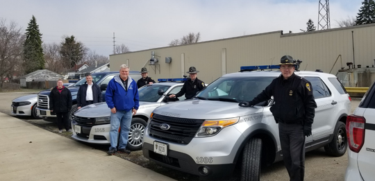 Members of the Ohio Highway Patrol and the Marion Township Fire Department helped unload the donation of personal protective equipment (PPE) made by Marion Technical College to the Marion County Emergency Management Agency. First responders in Marion County will benefit from the donation.