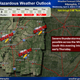 The National Weather Service said the Memphis area could experience severe weather Wednesday night and Thursday morning.