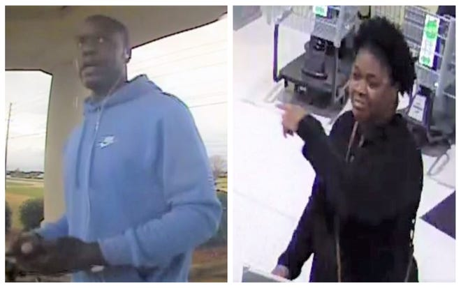 Montgomery police are searching for the identities and locations of these two people in connection to multiple credit card fraud cases.