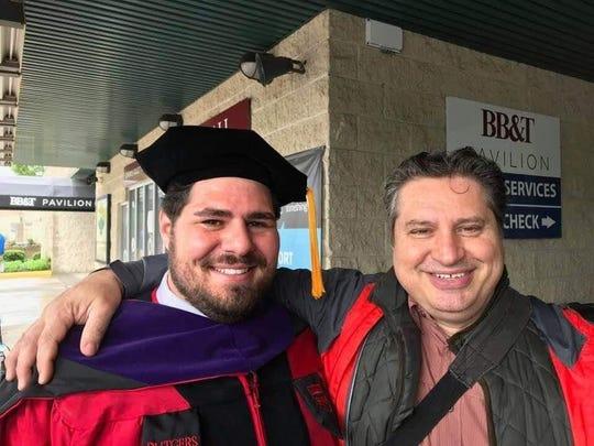 Sergio Rossini at his nephew's graduation from Rutgers.