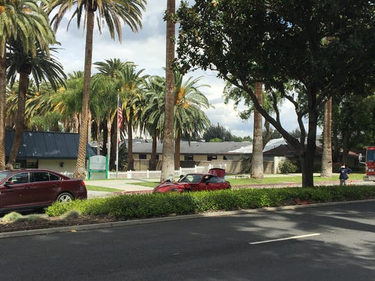 This photo from Wednesday, April 8, 2020 shows Extended Care Hospital of Riverside (Left) and Magnolia Rehabilitation and Nursing Center in Riverside. Extended staff and residents recently tested positive for COVID-19 and 84 Magnolia residents were removed Wednesday after staff didn't show up for work.
