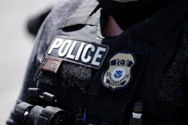 An ICE police officer