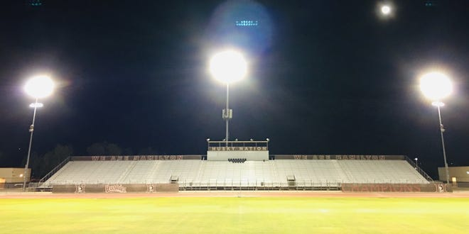 Hamilton High School in Chandler  is among school that have been lighting the stadium to honor the class of 2020.