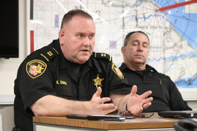 Capt. Kent Davis, jail administrator at the Ottawa County Sheriff's Office, discusses the benefits of the new nursing offered at the local detention facility.