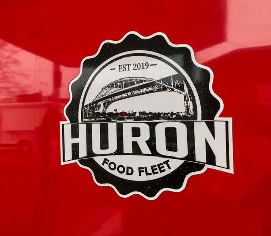The logo for Huron Food Fleet that Gary Lokers, owner of Eli's Eats in the Streets, had designed. Huron Food Fleet was open for business at 1912 Pine Grove Ave. in Port Huron on April 7, 2020.