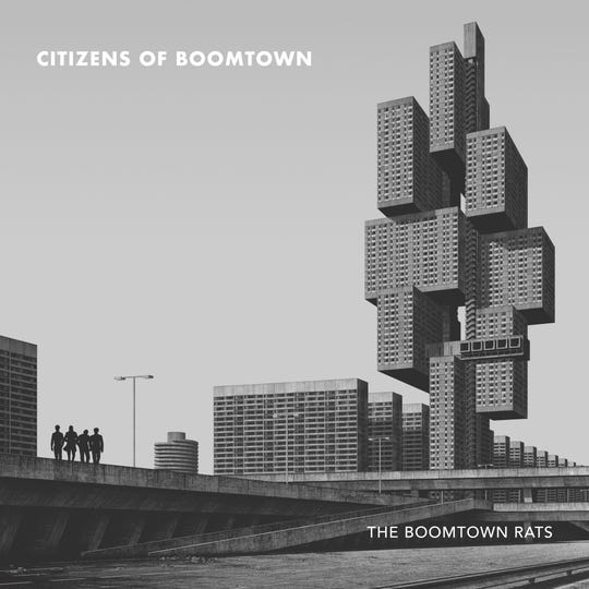 "The cover of the new Boomtown Rats album, ""Citizens of Boomtown."""