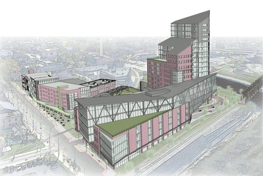 A rendering of the Innovation District in downtown York. York Exponential aims to build a robotics hub in downtown York's Northwest Triangle.