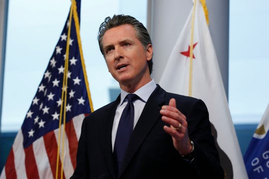 Gov. Gavin Newsom speaks at the Governor's Office of Emergency Services in Rancho Cordova, Calif. (AP Photo/Rich Pedroncelli, File)