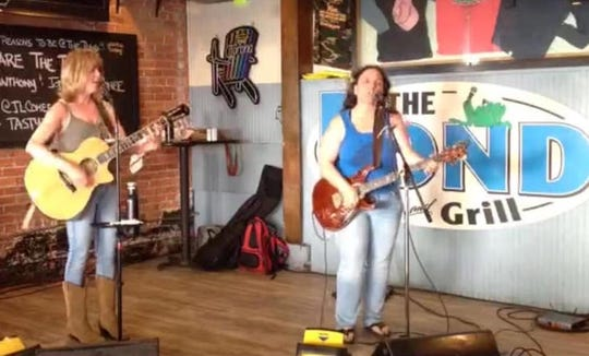 Local duo Share the Road consists of acoustic guitarist Keri Anthony, left, and electric guitarist Jodi Lynn Cohee. The Pond nightclub in downtown Rehoboth Beach webcasts live performances by the duo via the Internet each Sunday at 5:30 p.m.