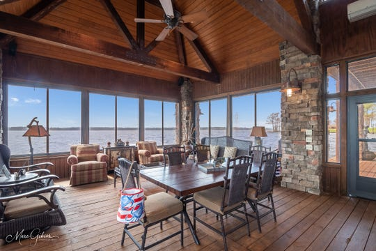 One of the most special features is the over the water living space.