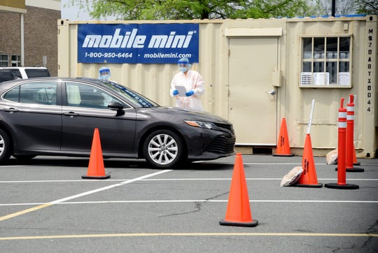 The new coronavirus testing site Wednesday afternoon in the Walmart parking lot at the Shreveport Barksdale Hwy, location, April 8, 2020.