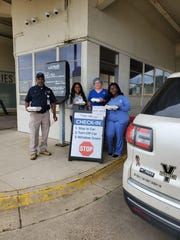 Us Up North owner, Chef Hardette Harris, is preparing and donating meals to first responders, seniors, and home bound residents in Shreveport-Bossier City during the coronavirus pandemic. (Pictured: Staff at Ochsner  LSU Health)