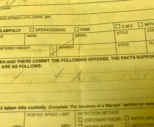 A 31-year-old Springfield man says that he was told Tuesday night by a police officer that he was the first person in the city to be issued a ticket for violating the city's stay-at-home order.
