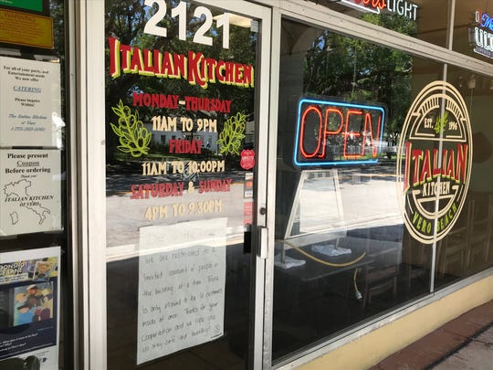 Italian Kitchen in downtown Vero Beach is open to carryout customers with a marketplace selling home goods inside.
