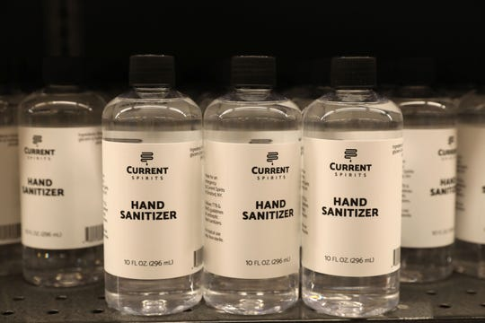 Hand sanitizer by Current Spirits at the Ardsley DeCicco & Sons.