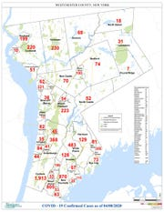 Westchester County town-by-town numbers for April 8, 2020.