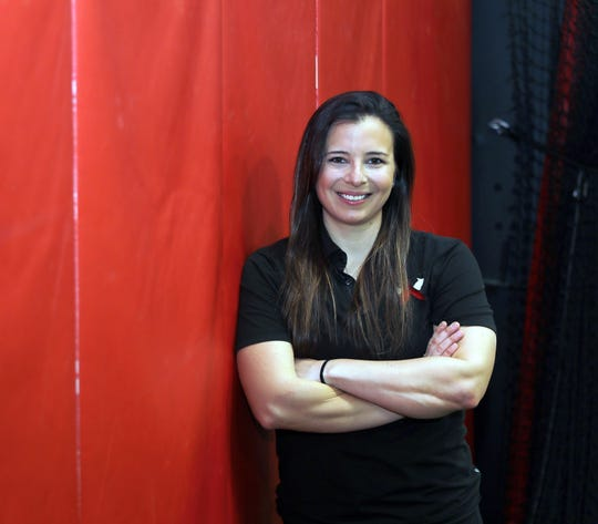 Cassie Reilly-Boccia, a Yorktown grad and Alabama softball National Champ gives at home softball workouts to athletes whose season are on hold.