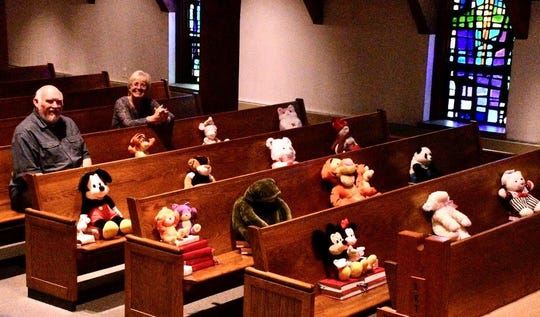 St. Mark's Lutheran Church in Bellefonte won's be filled with Easter worshppers Sunday, but it will have a critter congregation designed to lighten the hearts of church members.