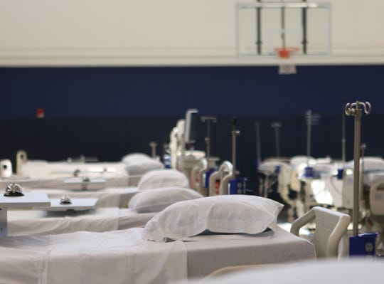 The Sports Medicine Gym at the Nemours Alfred I. duPont Hospital for Children was quickly changed into an alternative care site.